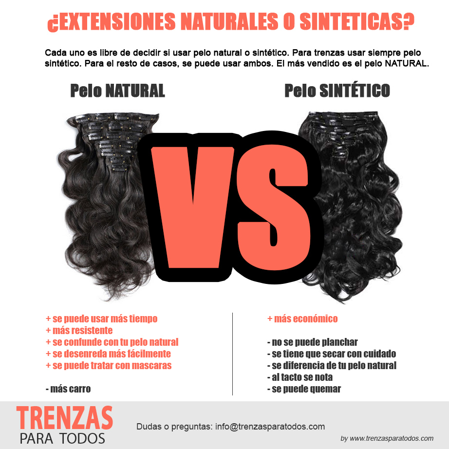 Cuando usar pelo natural o sintético